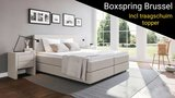 Boxspring Brussel (incl traagschuim topper)_